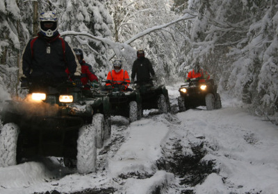 Quad Bike Safari in winter