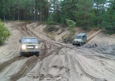 GPS orienteering sand track