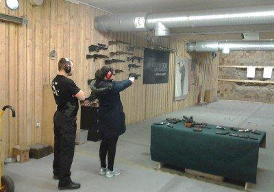 Shooting at the range in Tallinn