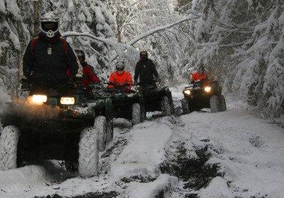 Quad Bike Safari in winter