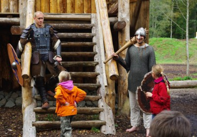 Viking worriors at the fortress
