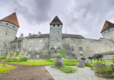 Scenic view of the medieval town wall