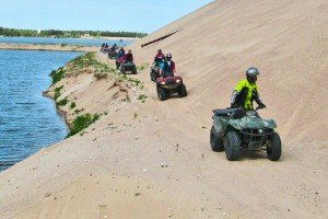 Have fun on a quad bike and choose the intensity level of your ride.